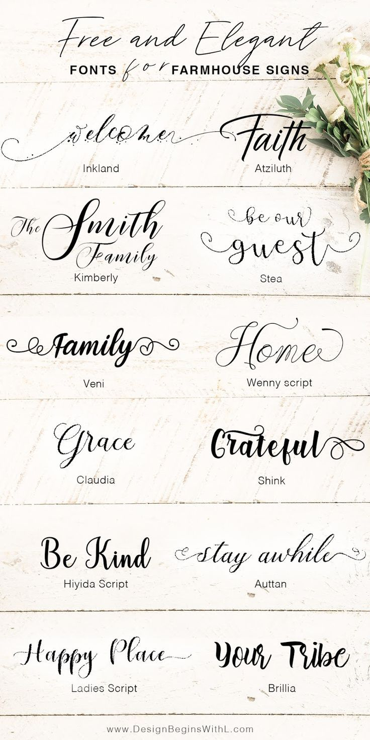 Free and Elegant Fonts for Farmhouse Signs Sign fonts