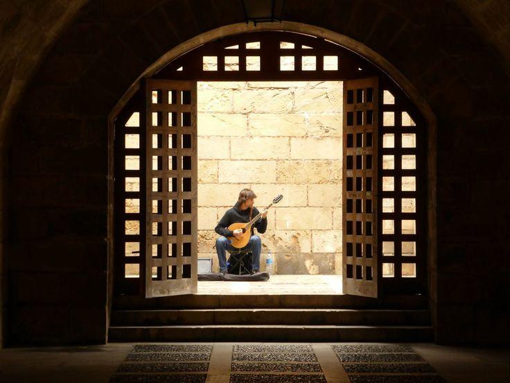 Palma di Mallorca. Musicista di Strada.