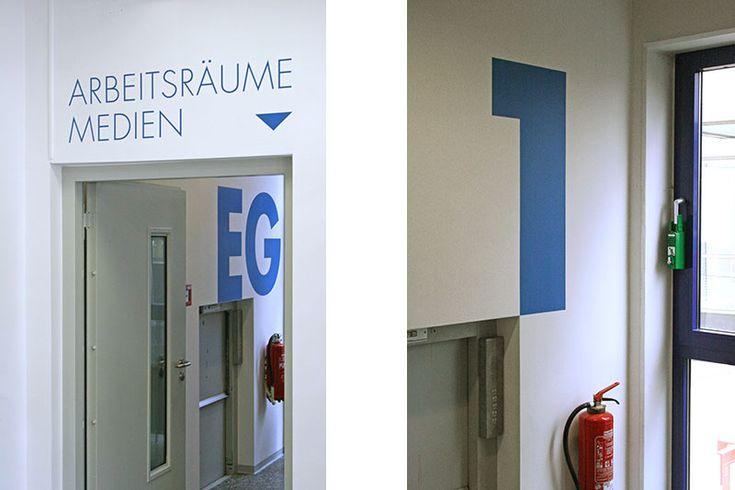 Leitsystem Bibliothek Frankfurt am Main