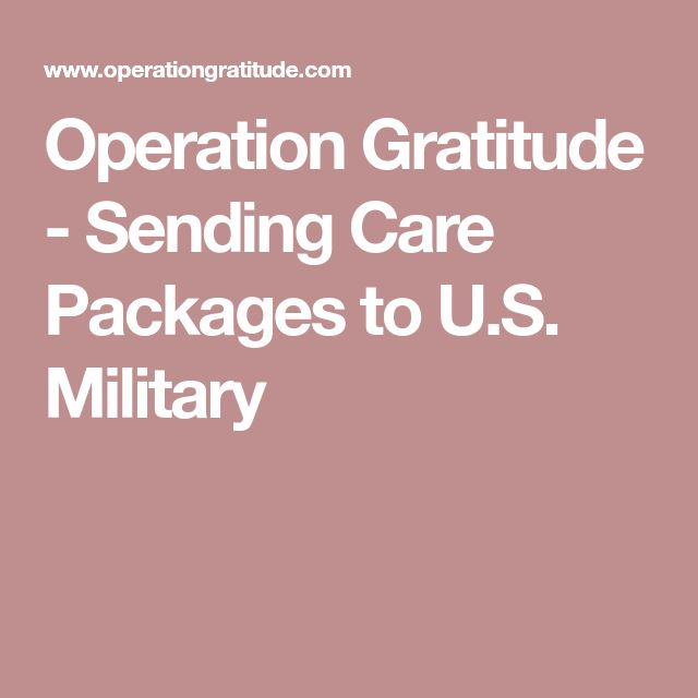 Operation Gratitude - Sending Care Packages to U.S. Military