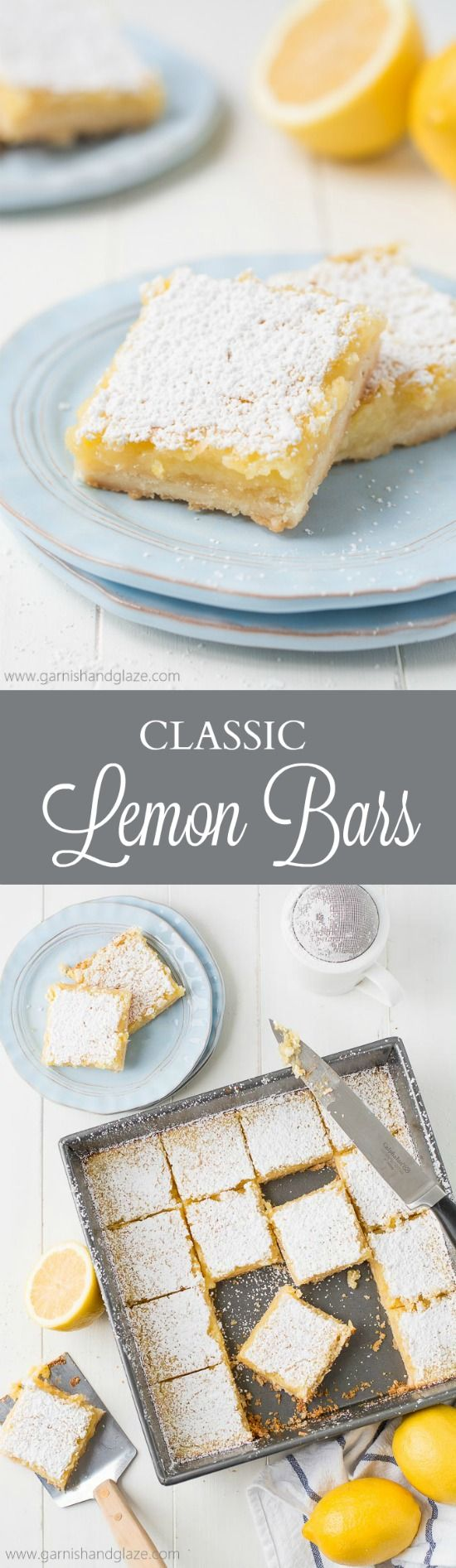Classic Lemon Bars | Recipe | Sweet, Lemon bars and Tarts