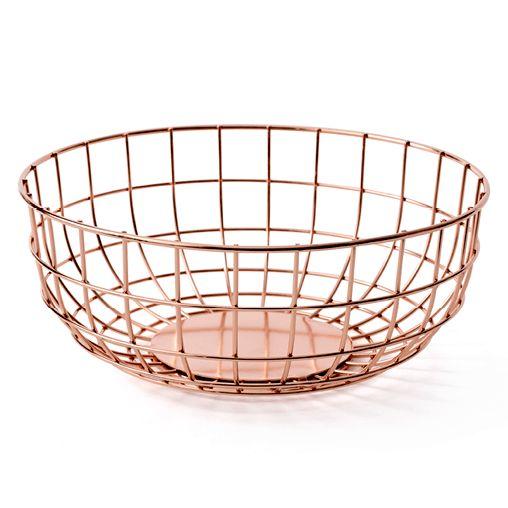 Menu - Wire Bowl - Kobber