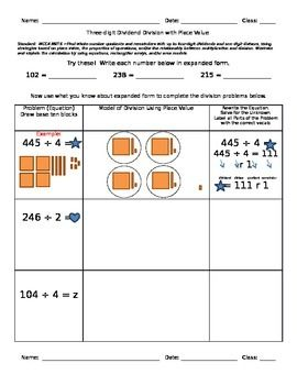 Place Value Worksheets : place value worksheets using base ten ...