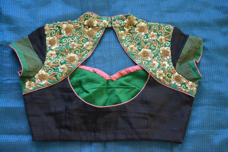 high neck saree blouses for net sarees - Google Search