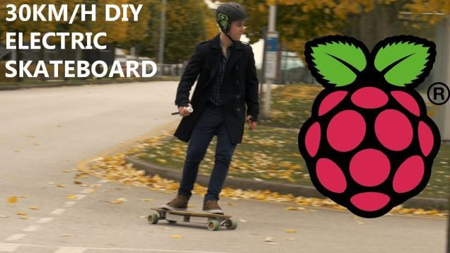 If you're looking for a fun weekend project and have a Pi Zero lying around, consider making your own electric, powered skateboard like this one from The Raspberry Pi Guy. Controlled with an old Wiimote and capable of 30 km/h (about 19 mph), it's not a bad way to get around town.