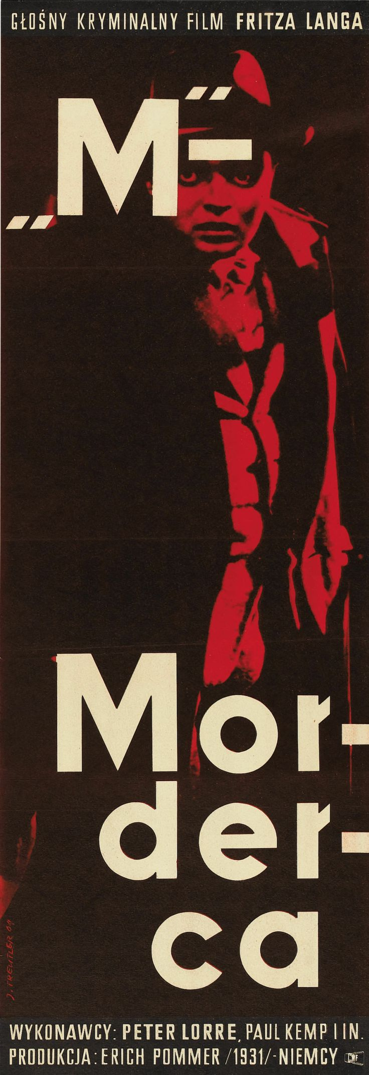 Poster design exhibition design large format wakefield - M Fritz Lang 1931 Polish Design By Jerzy Treutler