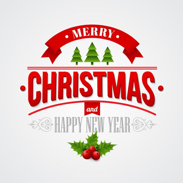 Merry Christmas Lettering   Christmas labels, Christmas ...