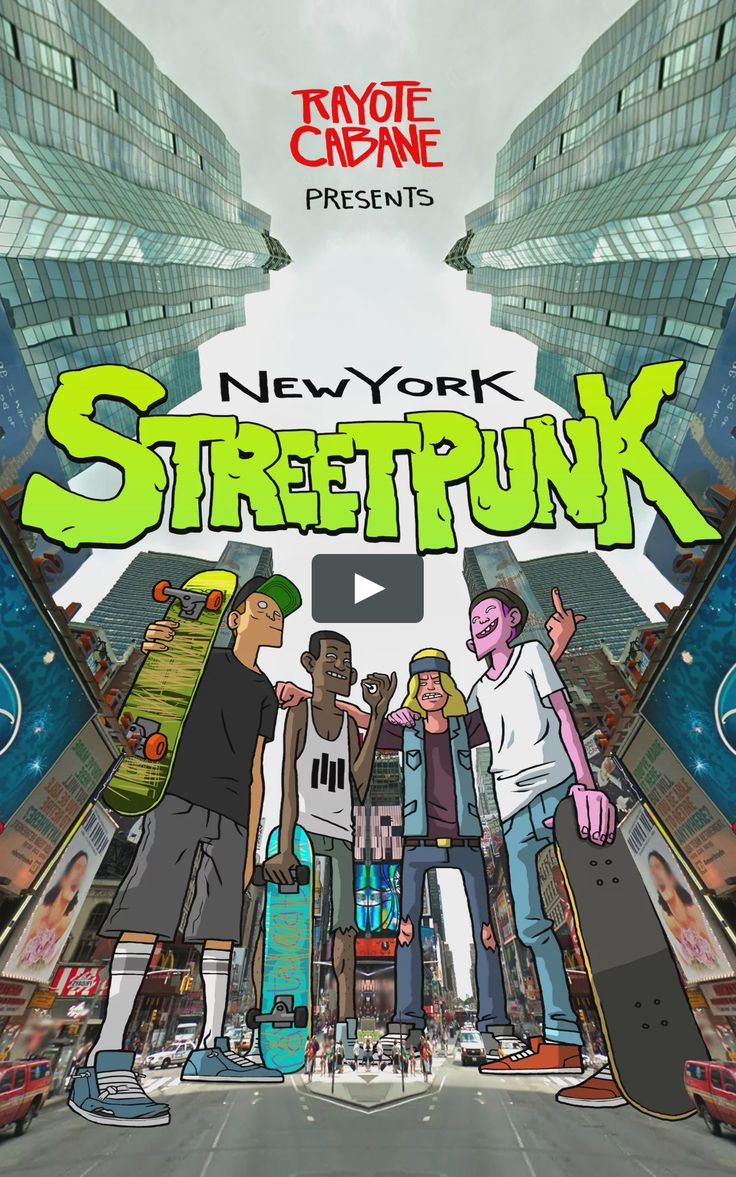 New York Street Punk | A gang of giant street punks take over Google Street View and shred it to pieces.   An animated short by Vincent Desbiens Music by Cerebral…