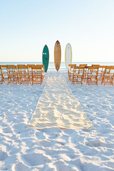 Surf Wedding Aisle. Event Decor by Ceremony Design Company / ceremonydesigncompany.com, Photography by Mad Love Weddings / bookmadlove.com