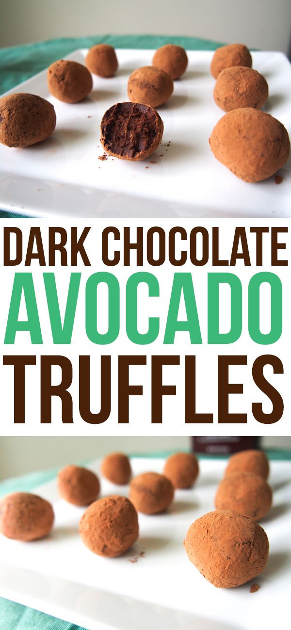 Dark Chocolate Avocado Truffles  copy