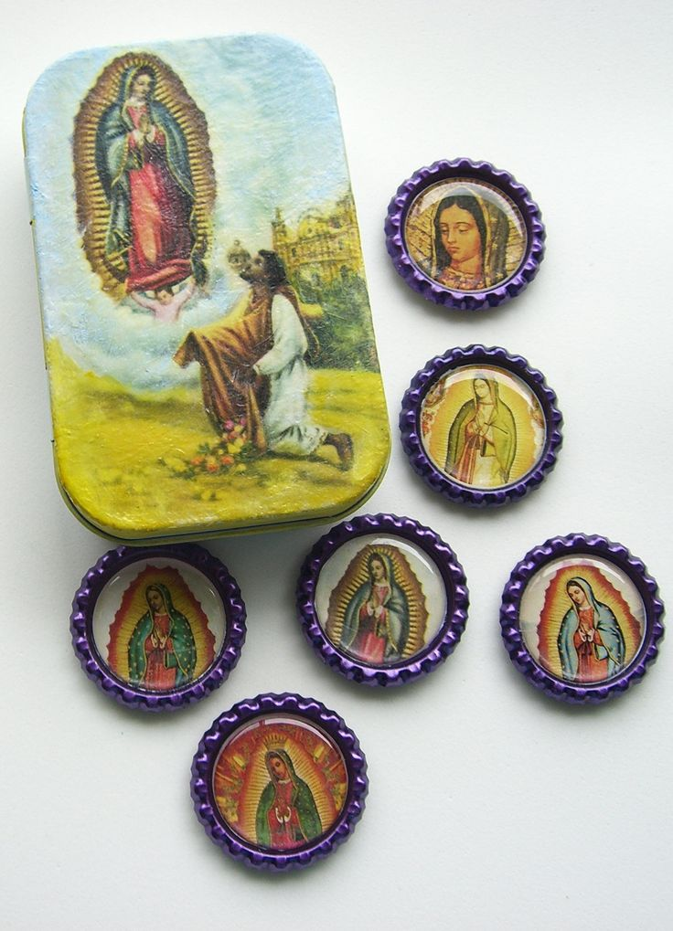 Lady Guadalupe Magnet Set. Virgen de Guadalupe. Lady Guadalupe Shrine. https://www.etsy.com/shop/KukulStudio