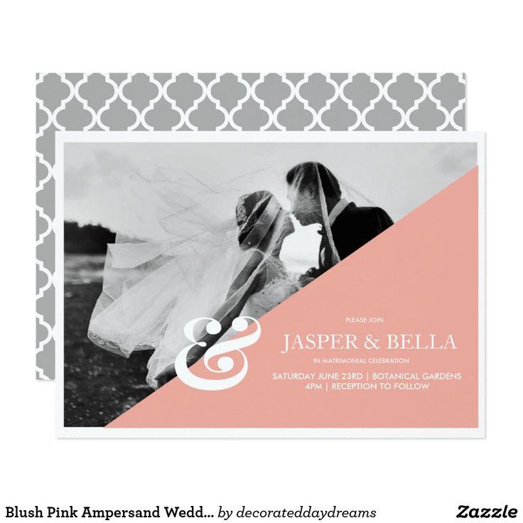 Blush Pink Ampersand Wedding Invitation
