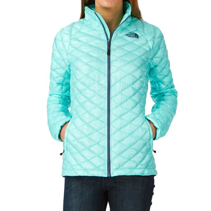 The North Face Womens Thermoball Jacket - Mint Blue   Free Delivery