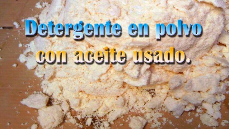 Reciclaje Productivo Creativo: Detergente en polvo con aceite usado.