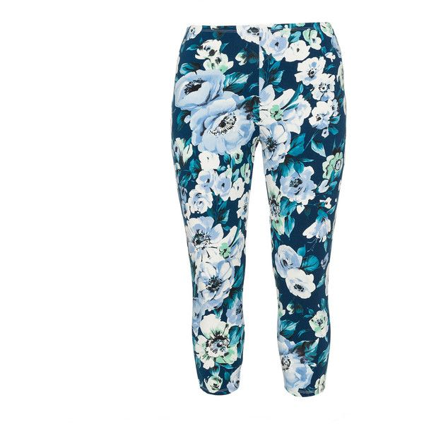 Rimini Petrol / Light-Blue Plus Size Printed leggings ($53) ❤ liked on Polyvore featuring pants, leggings, plus size, petrol, light blue leggings, plus size white pants, elastic waist pants, white trousers and stretch waist pants