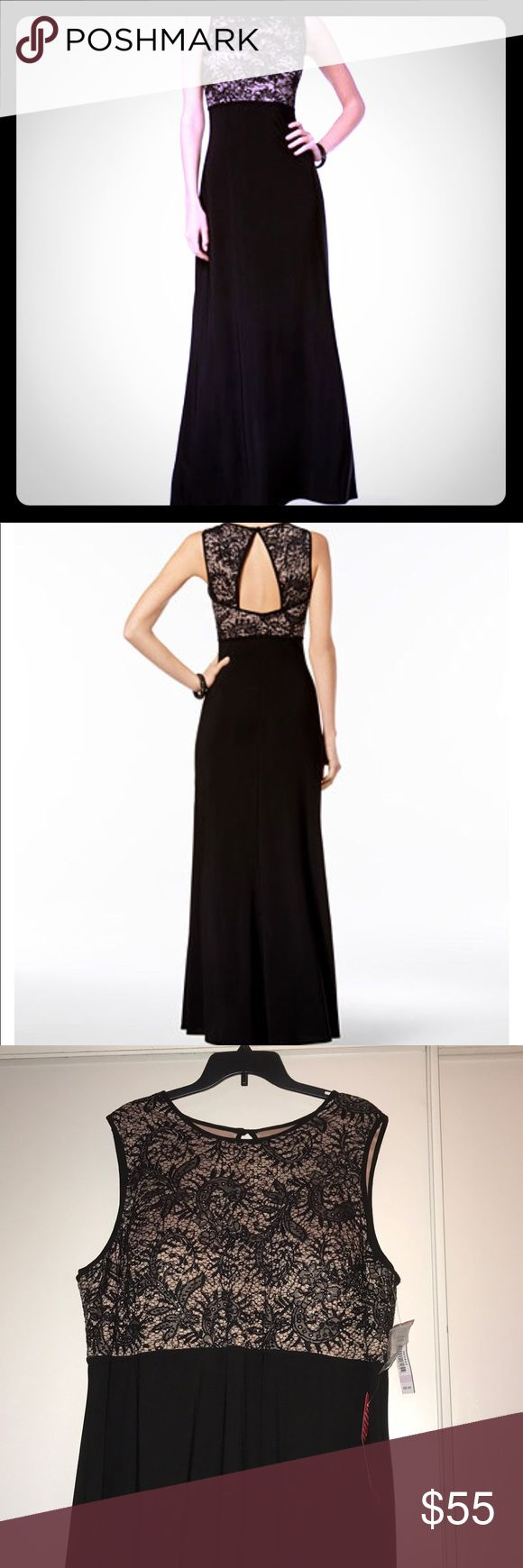 Perfect for Valentines Day ❤️ NWT gown 22W NWT NW Woman gown size 22W. Nude/Black lace top and flowing bottom. Flattering cutout in back. Fits like a dream, makes the curves look good and the fitted top is stretchy so it accommodates the bust. NW Woman Dresses Maxi