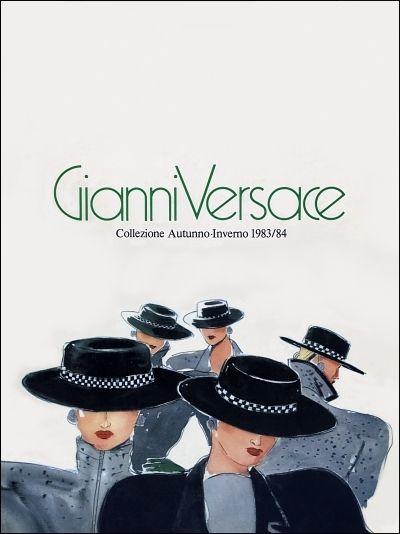 f505ba4426 GIANNI VERSACE | Catalogo # 5 Collezione Donna Autunno-Inverno 1983/84  (Fronte) | Versace in 2019 | Versace fashion, Versace, Gianni Versace