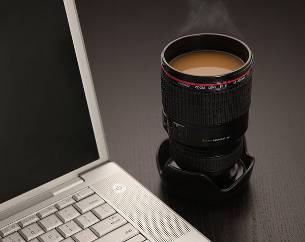 Now that's a cool mug!: Gift Ideas, Lens Coffee, Dslr Camera, Coffee Cups, Camera Lens, Gifts, Products, Coffee Mugs, Cameras