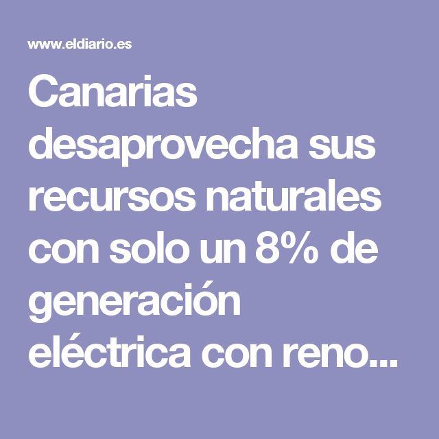 Canarias desaprovecha sus recursos naturales con solo un 8% de generación eléctrica con renovables