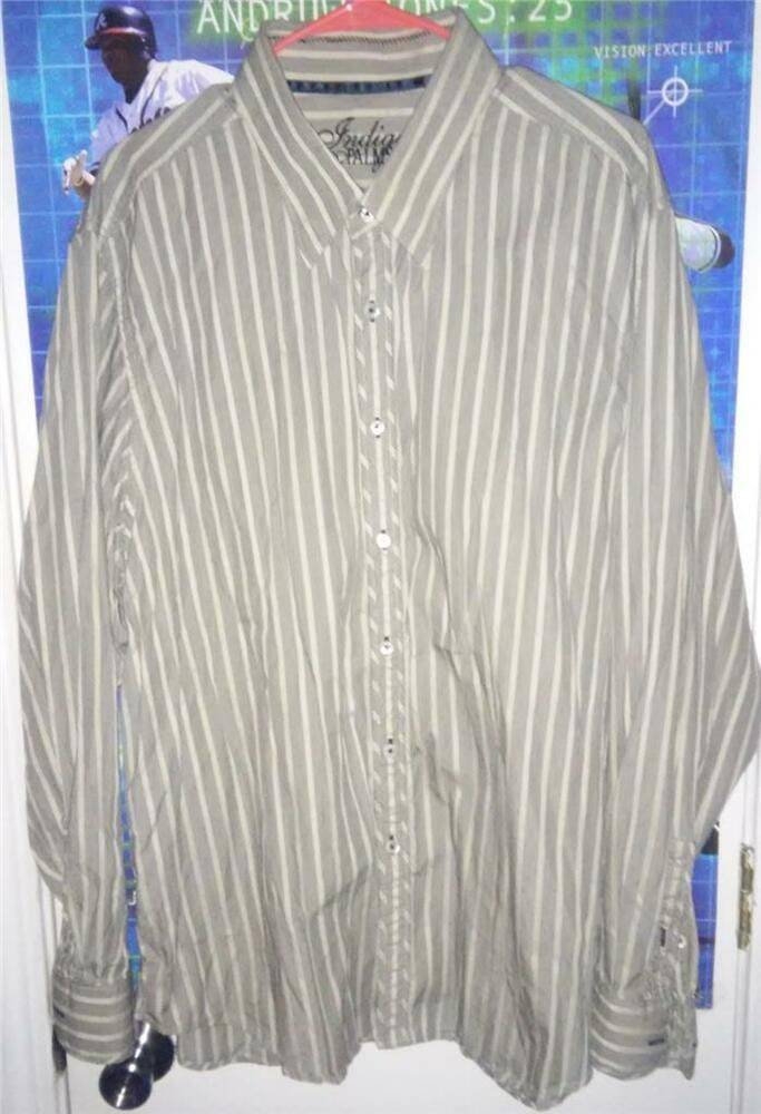 Indigo Palms By Tommy Bahama Long Sleeve 100 Cotton Button Front Shirt Size Xxl Fashion Tommy Bahama Mens Shirts Cotton Long Sleeve Shirt Shirt Dress Casual