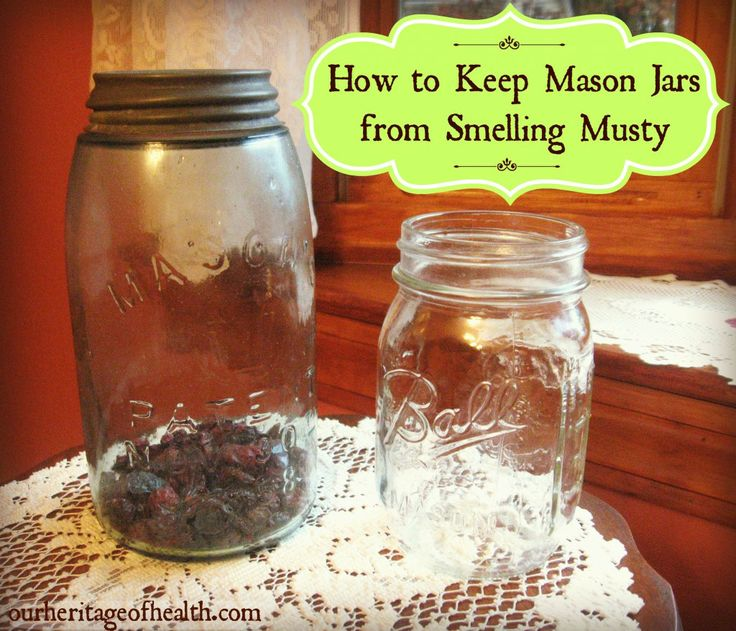 How to keep mason jars from smelling musty