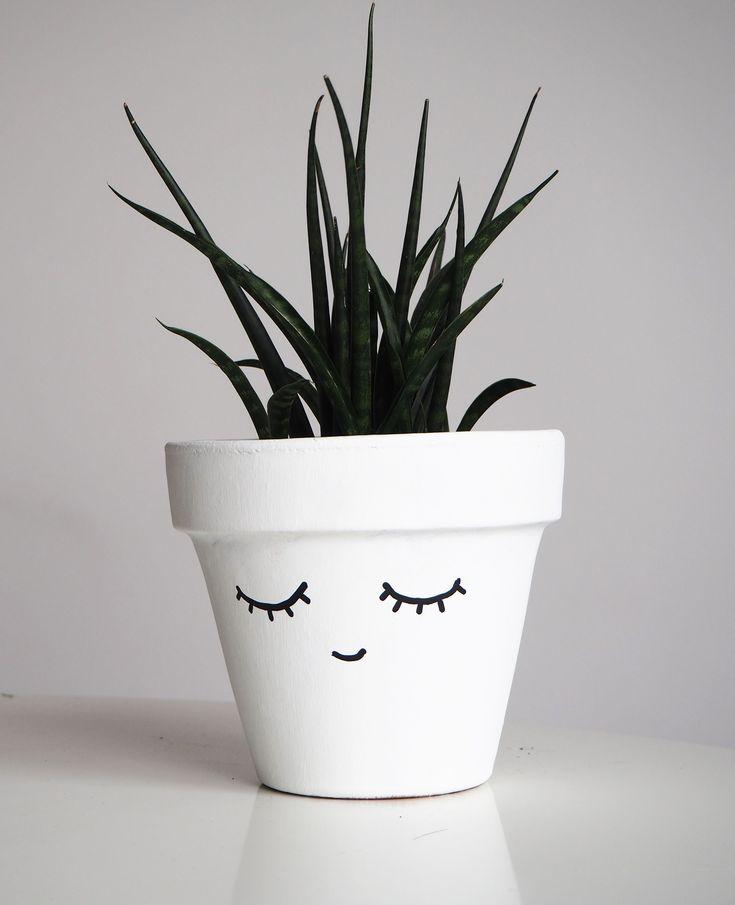 DIY Woodworking Ideas Customiser un pot facilement / Peindre un visage sur un pot