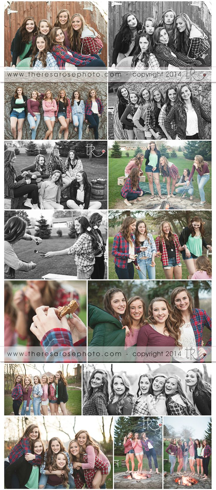 Friends by campfire photos - Theresa Rose Photography