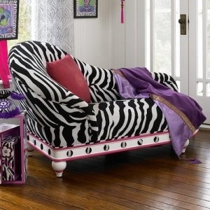 Bombay kids zebra chaise lounge chair : toddler chaise lounge - Sectionals, Sofas & Couches