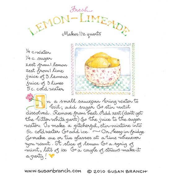 Lemon-Limeade by Susan Branch I absolutely love Susan Branch!