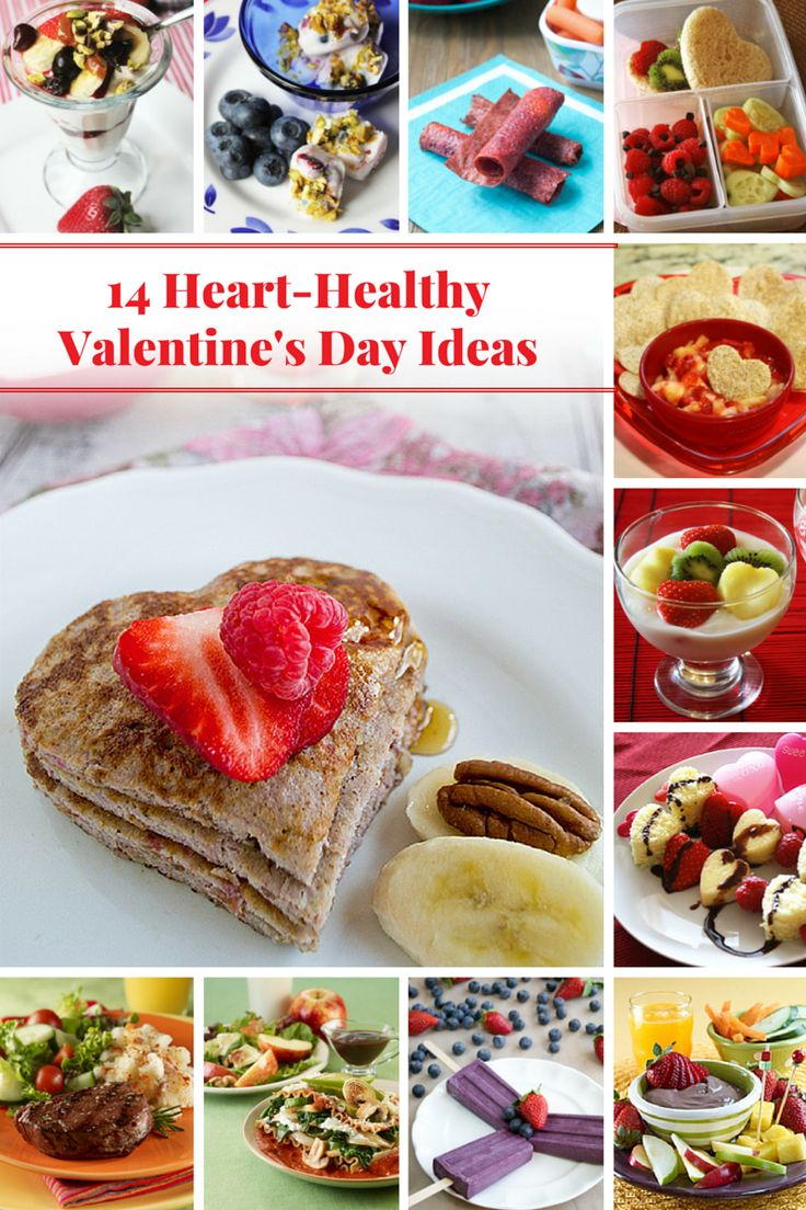 14 Heart-Healthy Valentine's Day Ideas - sweet treats, breakfast and dinner ideas for a heart-healthy Valentine's Day! @produceforkids