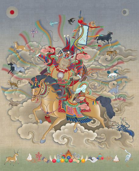 84 best tibetan buddhisn images on pinterest buddha buddhism and gesar by christopher banigan on artflakes fandeluxe Image collections