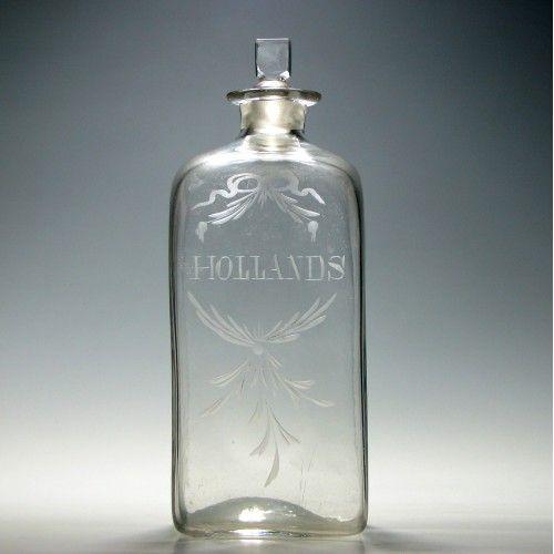 18th century gin decanter c1790