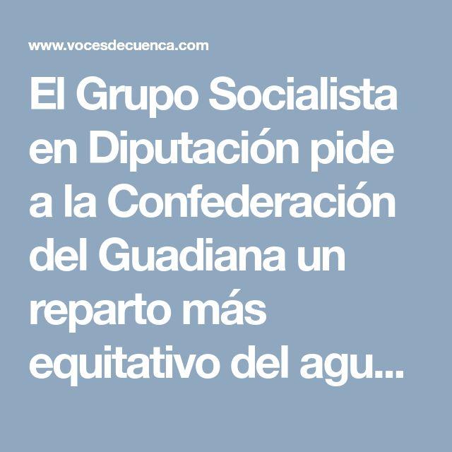 El Grupo Socialista en Diputación pide a la Confederación del Guadiana un reparto más equitativo del agua - Detalles - Voces de Cuenca
