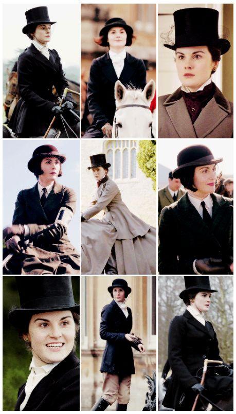 Downton Abbey, Mary Crawley ...Riding Clothes ..