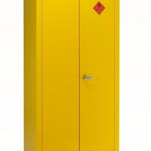 Yellow Metal Storage Cabinet