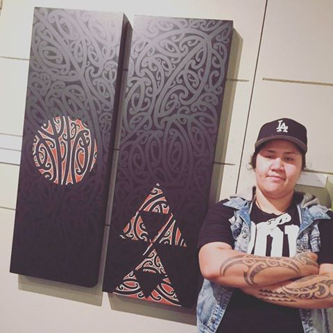 Art works I painted on Mdf boards. black on Black acrylic . They were part of the Toihoukura exhibition held at Te Tairawhiti Museum dec 2015-Jan 16 in Gisborne . price $800 each, $1500 both #maoriart #maoriartist #kowhaiwhai #moko #maori #toihoukura #art #exhibtion #gallery