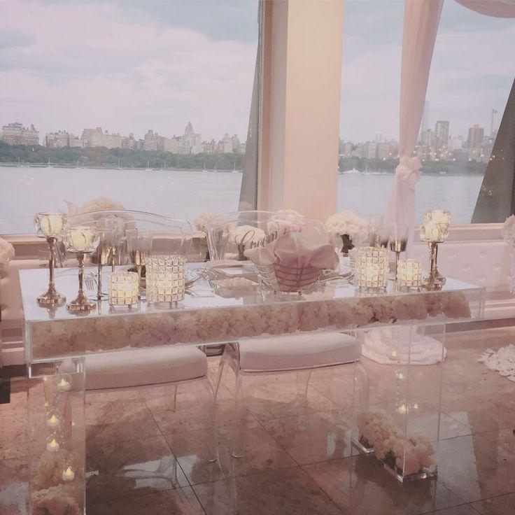 "Modern Clear Acrylic Modular Bridal/Sweetheart Table 42""L x 18""W x 30""H #CustomDesigns #Modern"