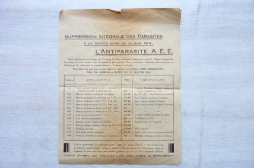 SUPPRESSION-INTEGRALE-DES-PARASITES-L-039-ANTIPARASITE-A-E-E-1935-Ref-02