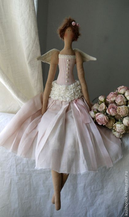 Куклы Тильды ручной работы. Ярмарка Мастеров - ручная работа. Купить Нежные воспоминания. Handmade. Бледно-розовый, винтажный стиль