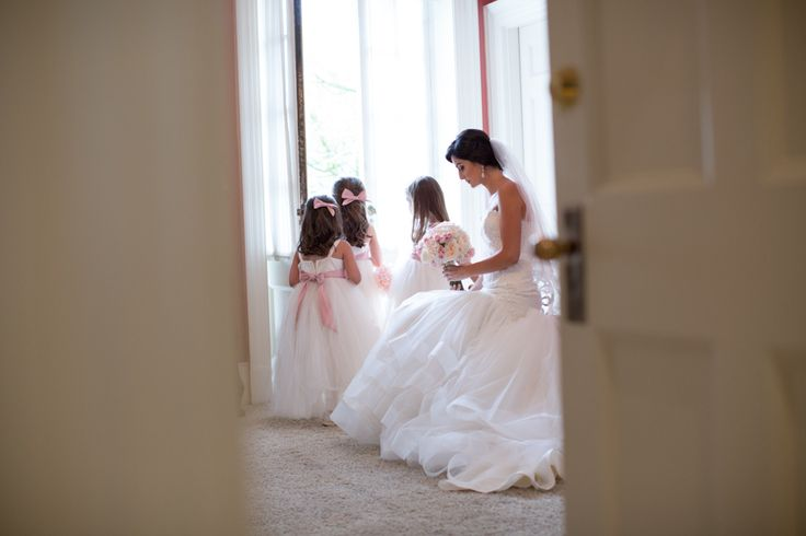Bride with flower girls at Graydon Hall Manor