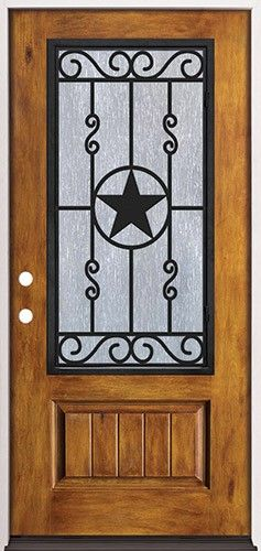 prefinished entry doors. rustic pre-finished fiberglass prehung door unit with star iron grille #75 prefinished entry doors