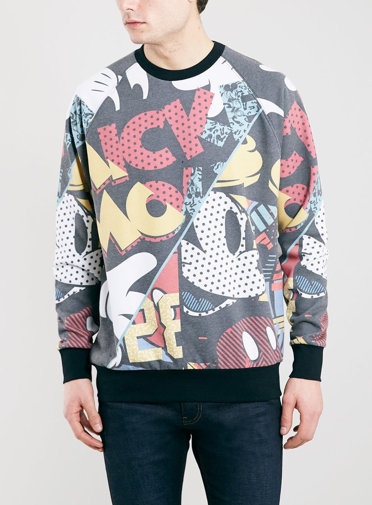 TOPMAN - MULTI OVERSIZED FIT MICKEY MOUSE SWEATSHIRT