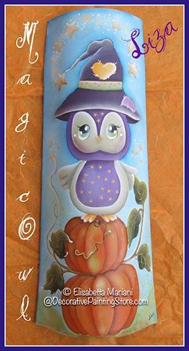 Whoo loves owls?  Everyone does.  Adorable fall owl pattern to paint.