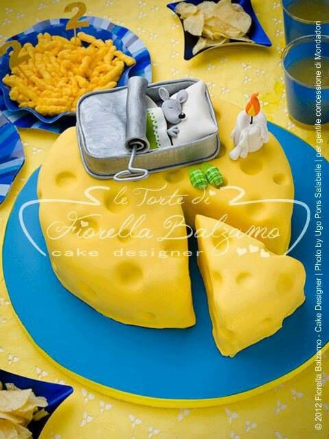 Cake Art, mouse & cheese
