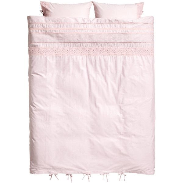 H&M Duvet Cover Set $59.99 ($60) ❤ liked on Polyvore featuring home, bed & bath, bedding, duvet covers, king size bedding, lace pillow cases, king duvet set, king pillowcases and king duvet cover sets