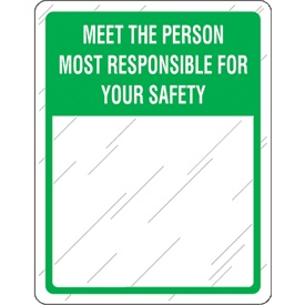 Green Safety Slogan Mirror