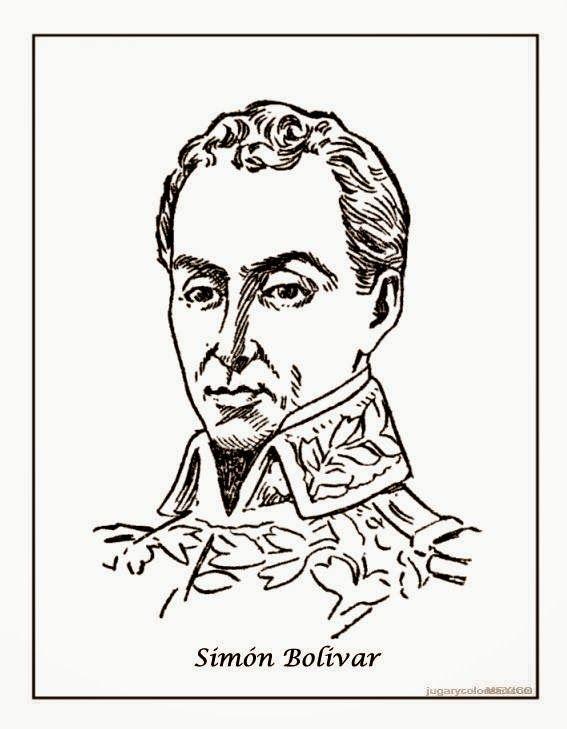Resultado De Imagen Para Simon Bolivar Para Colorear Nacimiento