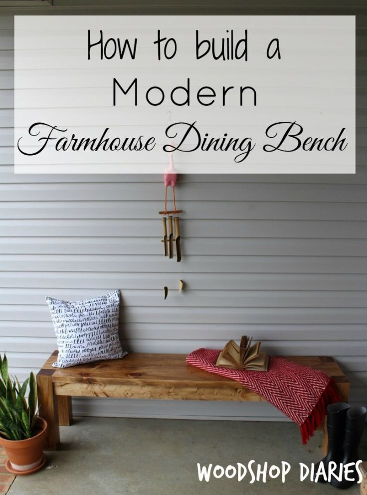 Bench diy modern decor