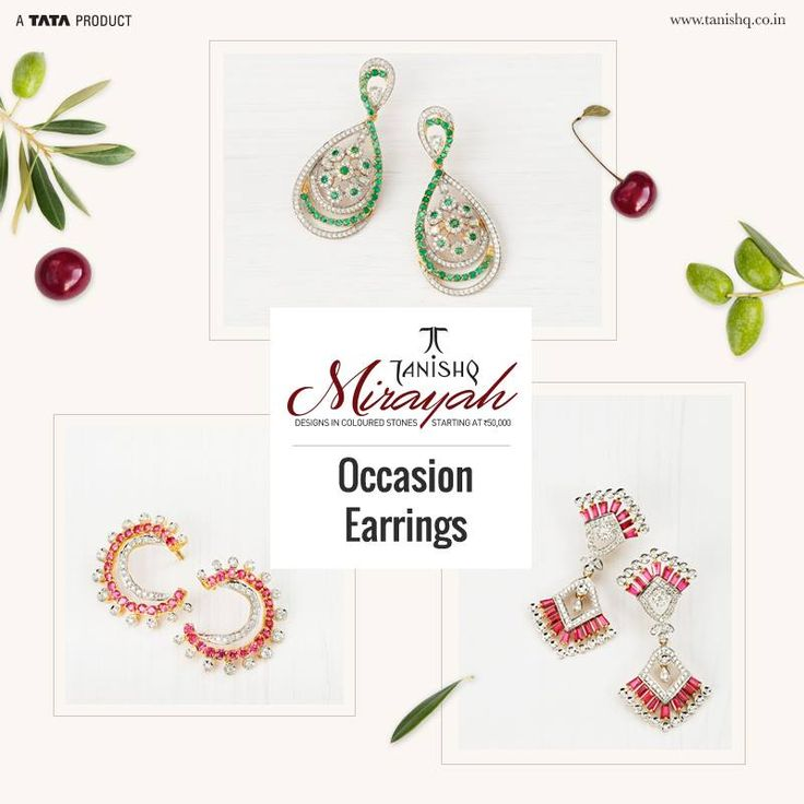 Exude style and sophistication with elegantly crafted earrings that are colourful, mesmerizing and celebrate the spirit of a woman!