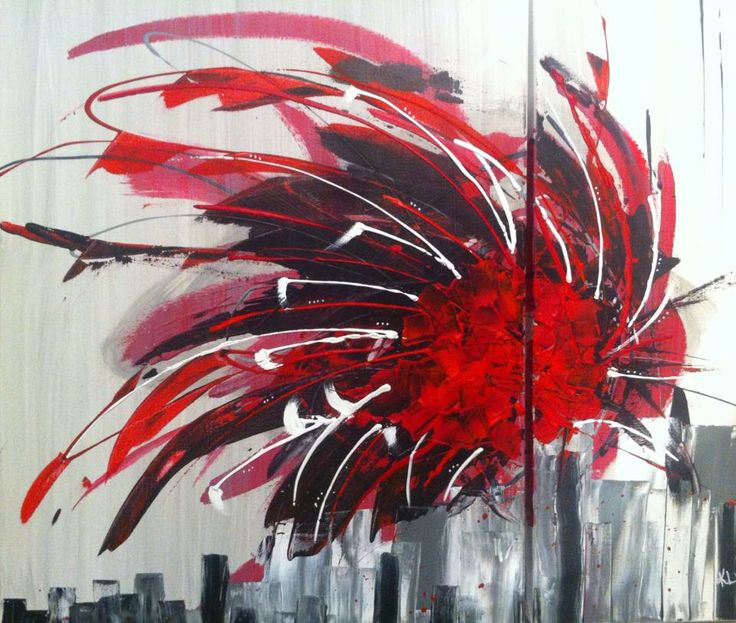 Toile Abstraite. Acrylique sur toile de coton. 24'' x 30'' et 10''x30'' Ligne droite. Karolanne Leduc. Suivez-moi sur Facebook Karolanne Leduc Artiste